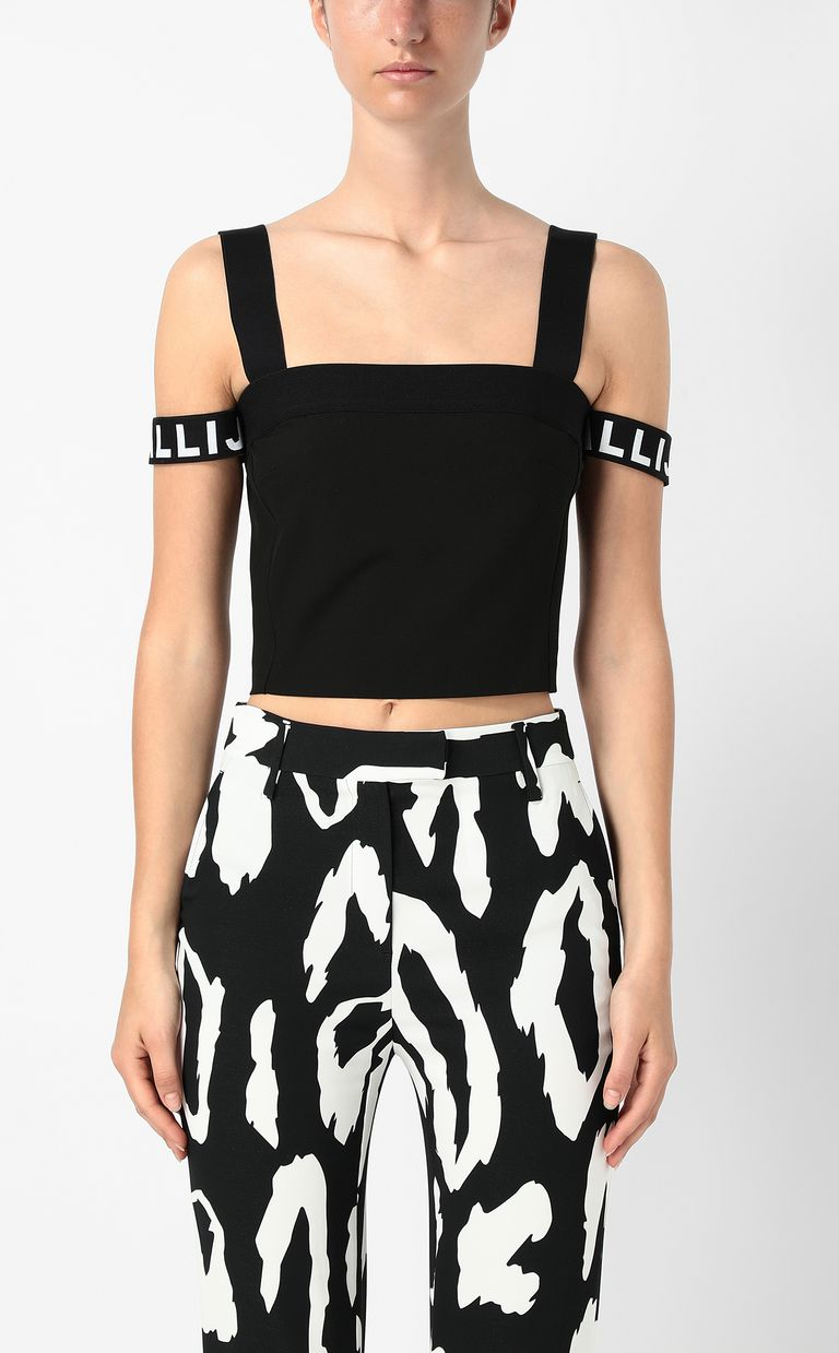 JUST CAVALLI Top with logo tape Top Woman r