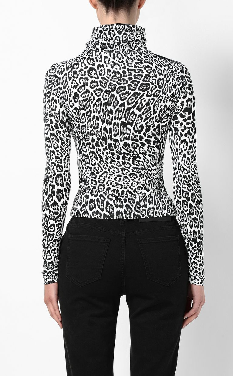 JUST CAVALLI Top with Dancing-Leo print Top Woman a