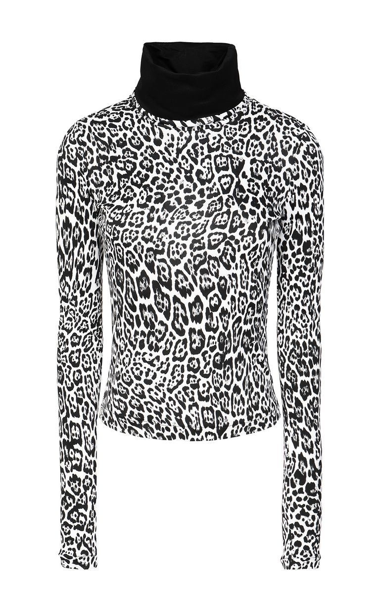 JUST CAVALLI Top with Dancing-Leo print Top Woman f