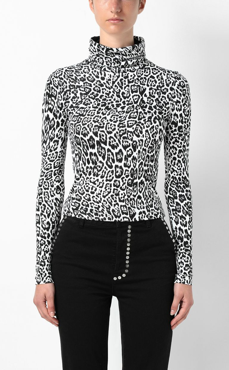 JUST CAVALLI Top with Dancing-Leo print Top Woman r