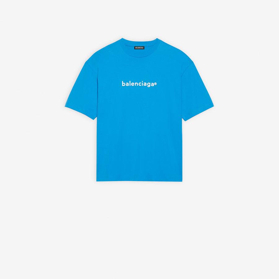 New Copyright Medium Fit T Shirt BLUE