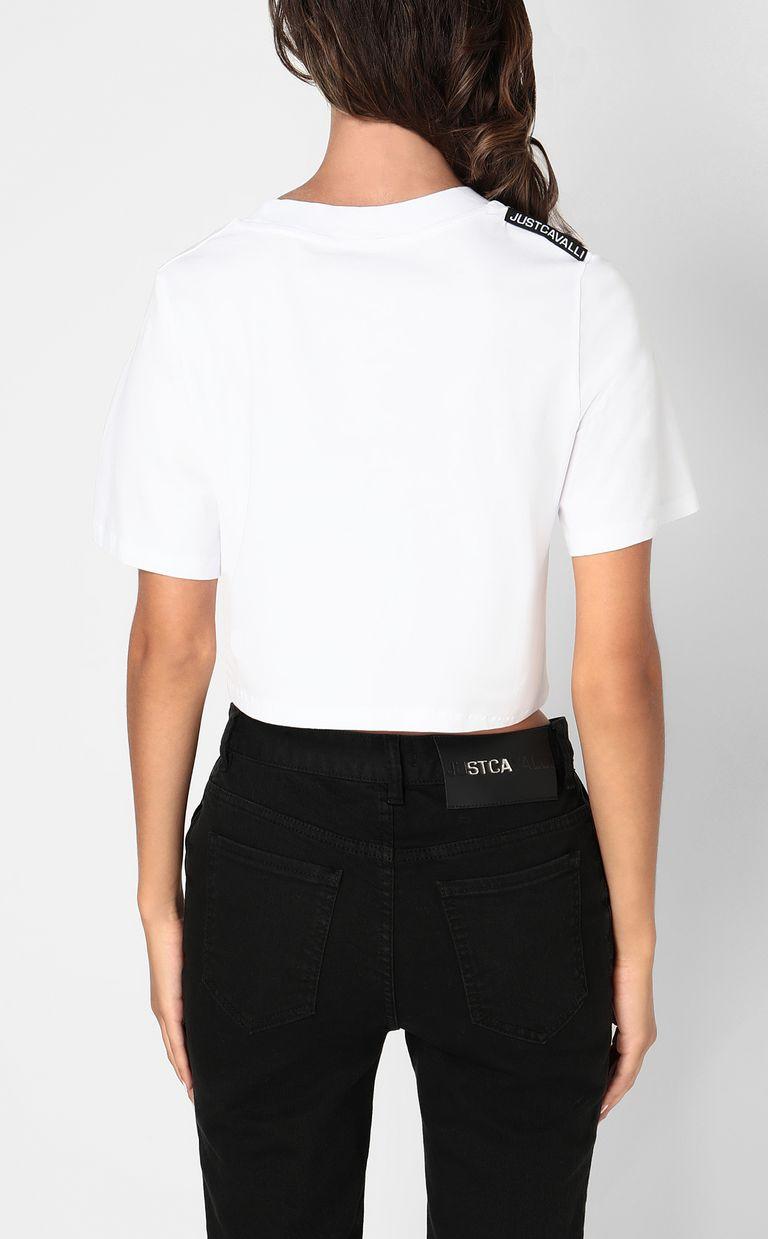 JUST CAVALLI Cropped t-shirt Short sleeve t-shirt Woman a