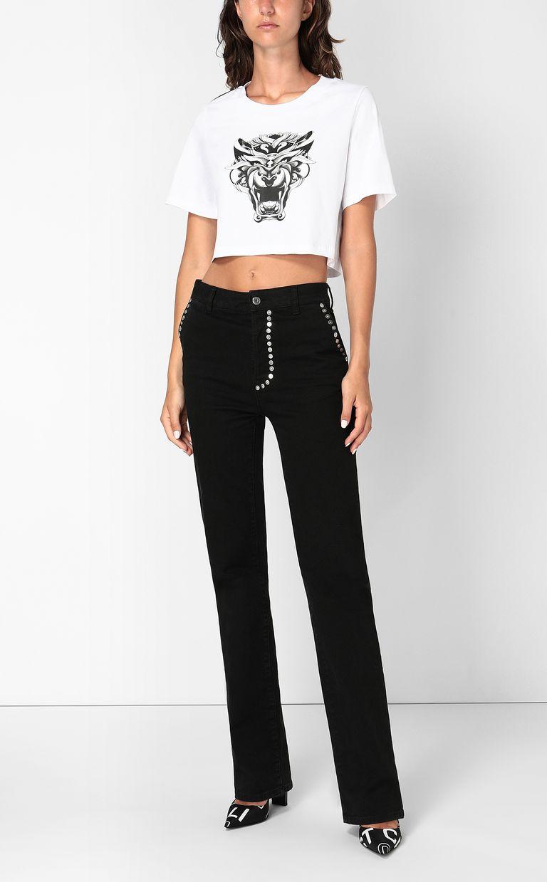 JUST CAVALLI Cropped t-shirt Short sleeve t-shirt Woman d