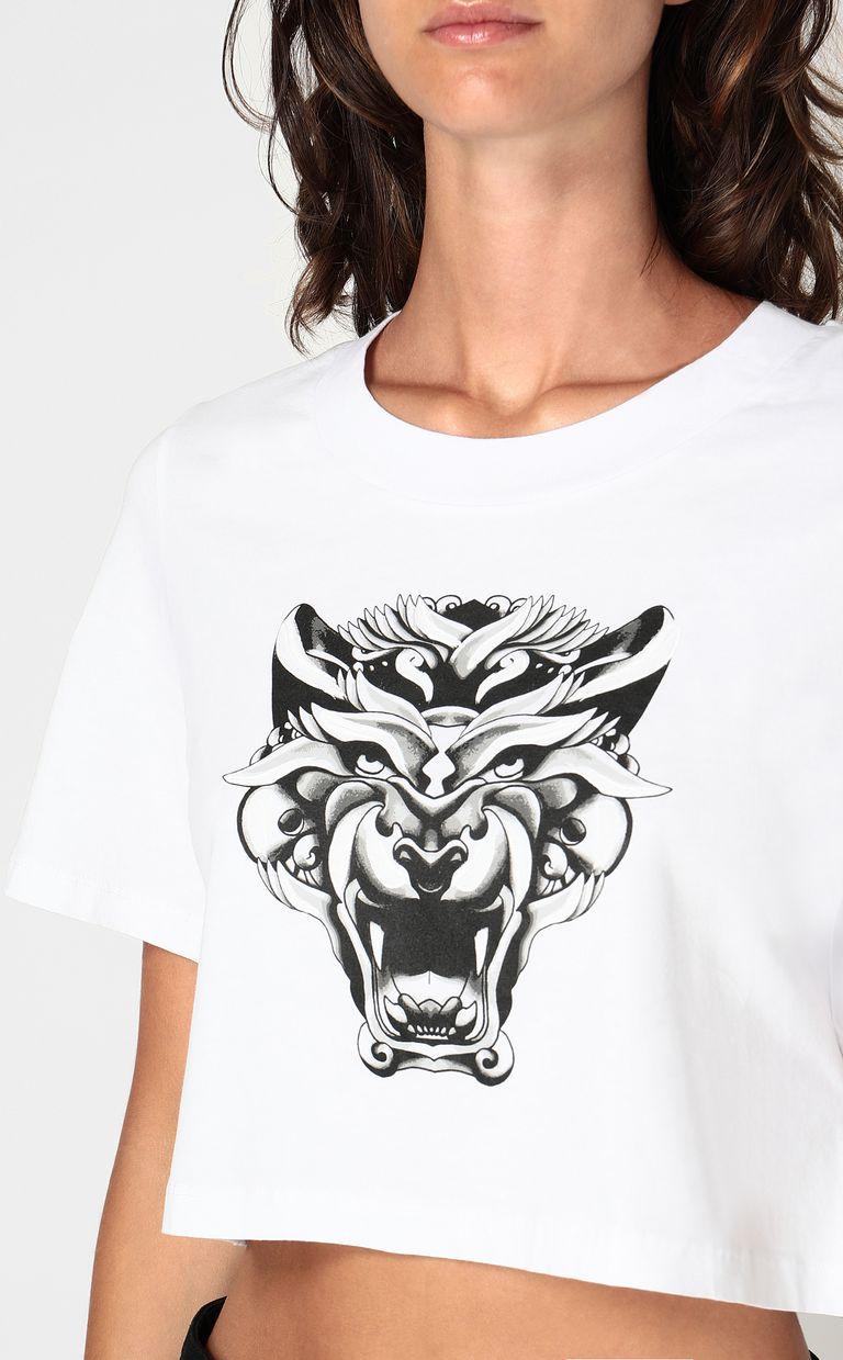 JUST CAVALLI Cropped t-shirt Short sleeve t-shirt Woman e
