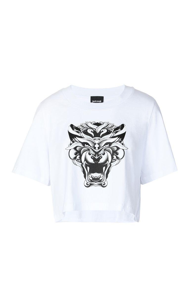 JUST CAVALLI Cropped t-shirt Short sleeve t-shirt Woman f
