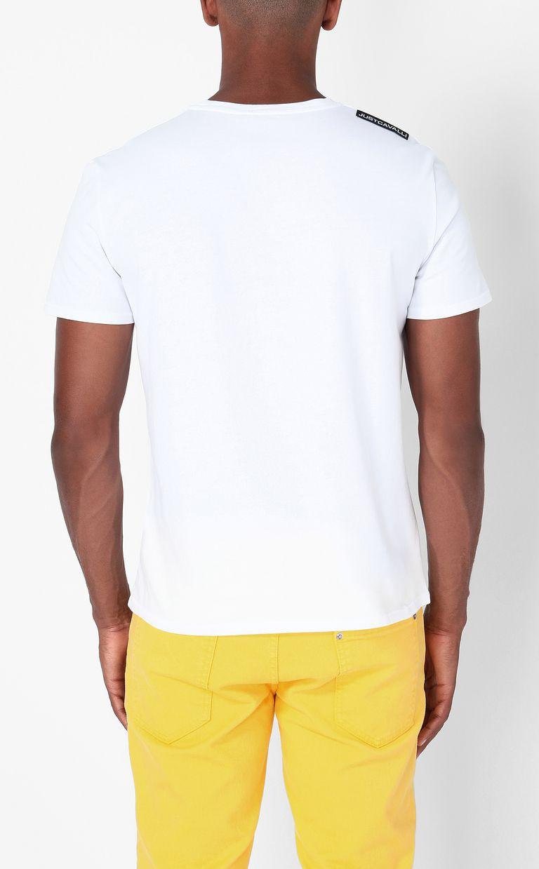 "JUST CAVALLI ""Tiger-Knocker"" print t-shirt Short sleeve t-shirt Man a"