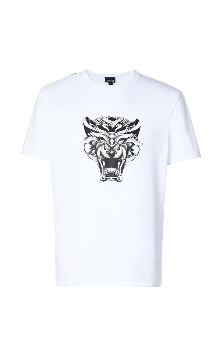 "JUST CAVALLI ""Tiger-Knocker"" print t-shirt Short sleeve t-shirt Man f"