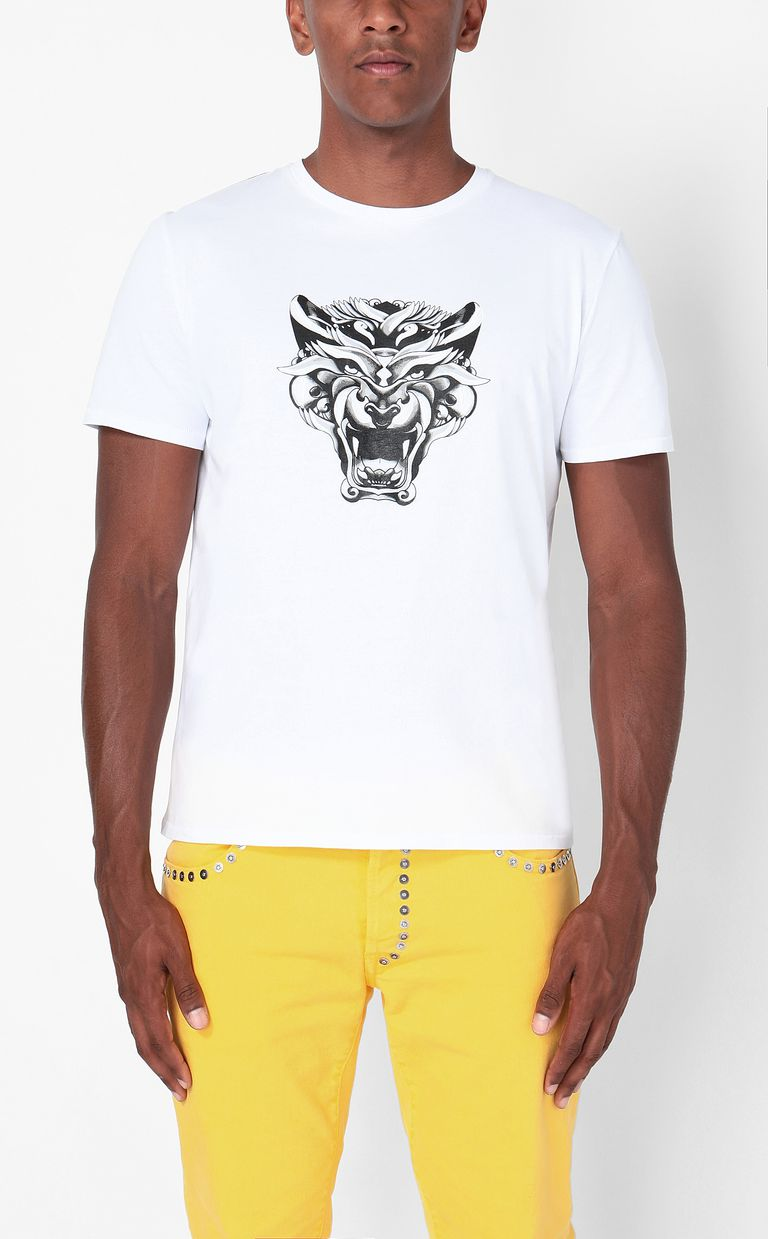 "JUST CAVALLI ""Tiger-Knocker"" print t-shirt Short sleeve t-shirt Man r"