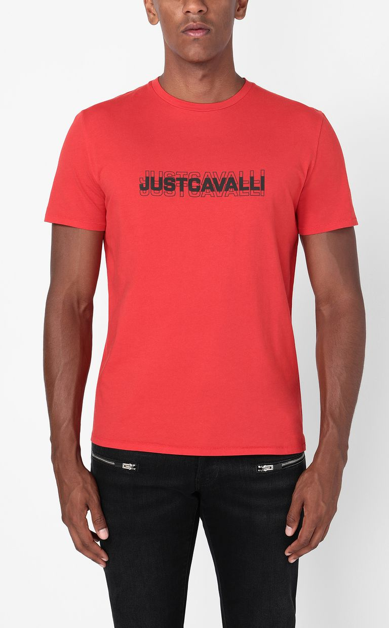JUST CAVALLI T-shirt with logo print Short sleeve t-shirt Man r