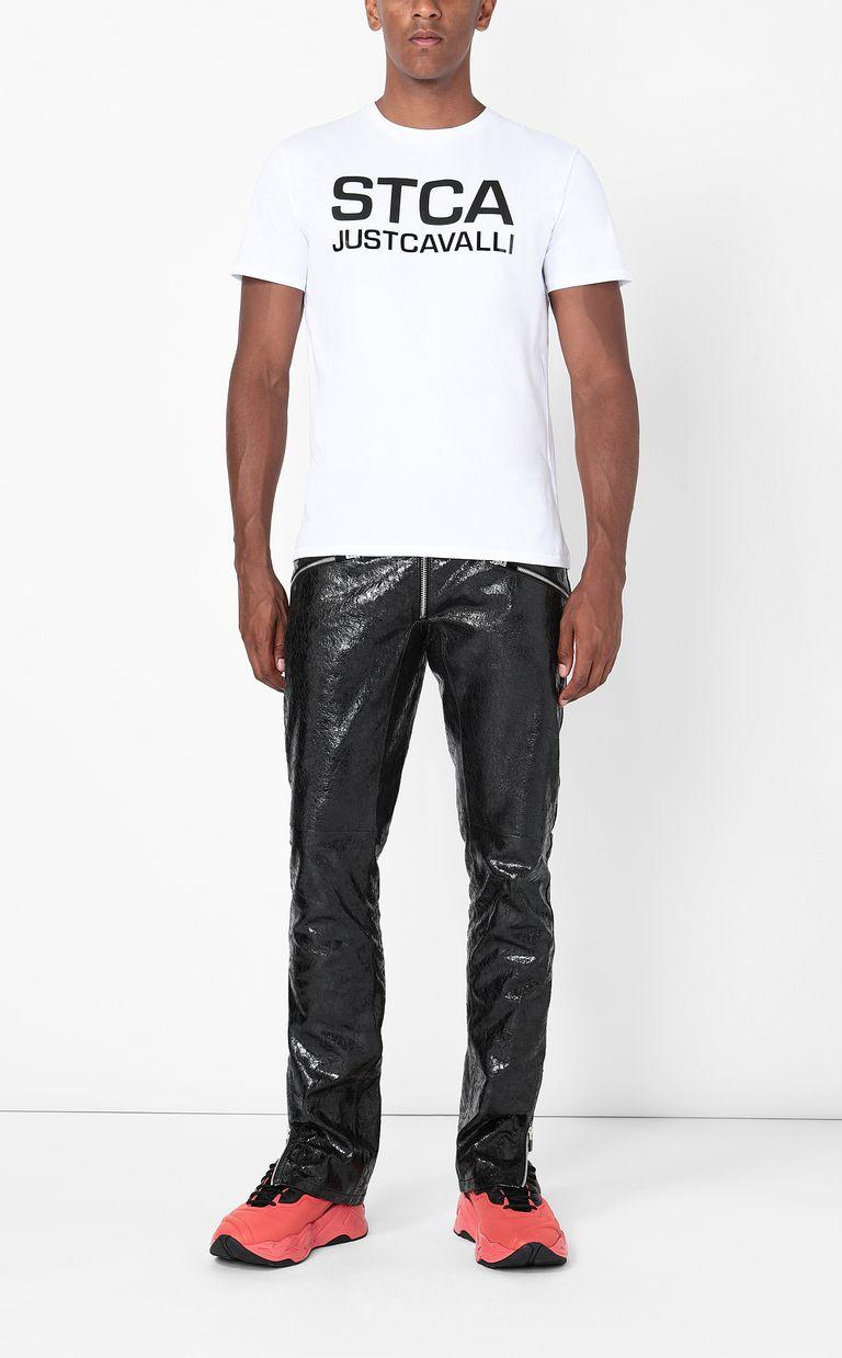 JUST CAVALLI T-shirt with STCA logo Short sleeve t-shirt Man d