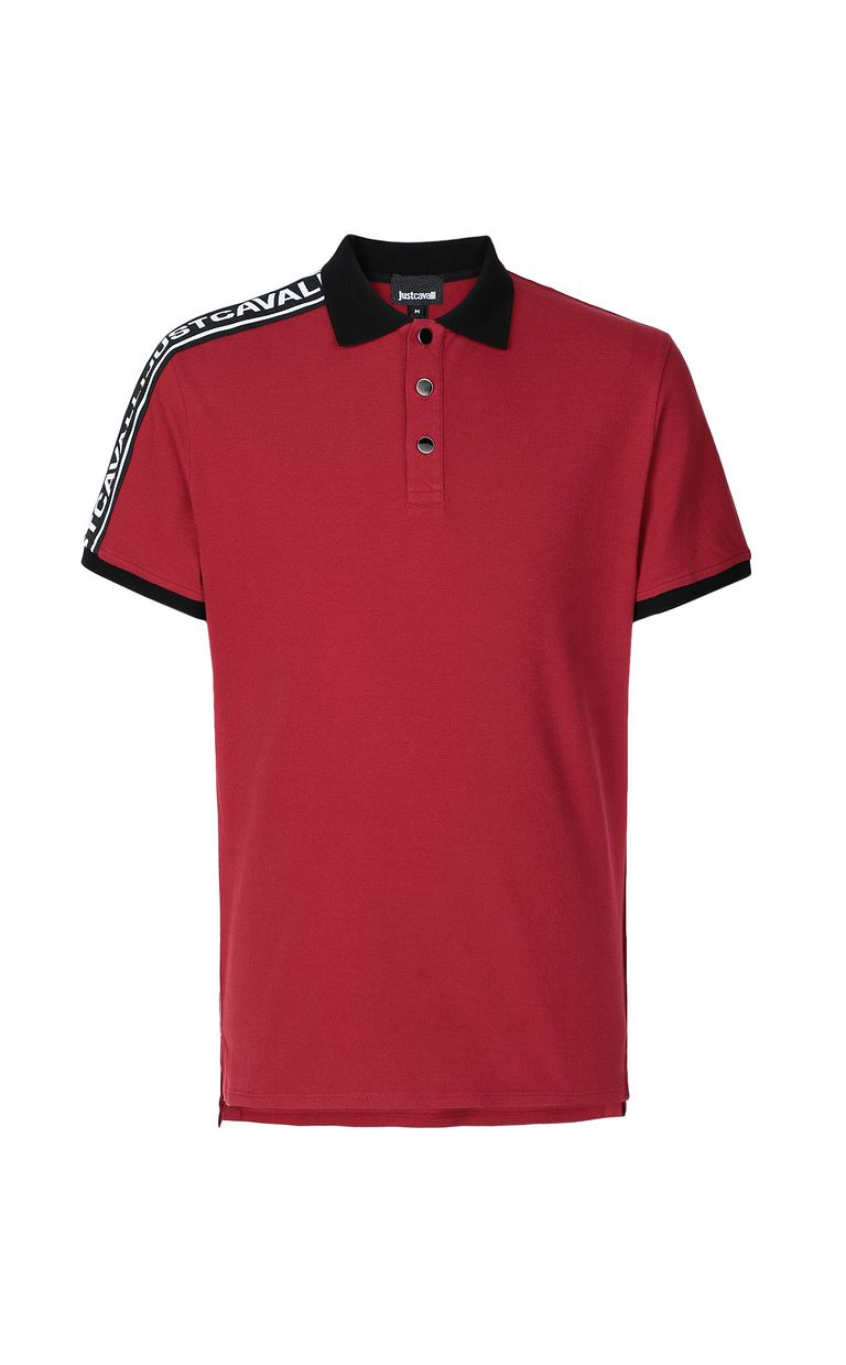 JUST CAVALLI Polo shirt with logo-band detail Polo shirt Man f