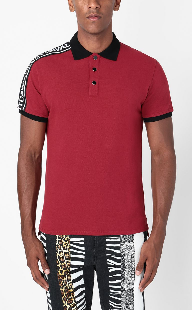 JUST CAVALLI Polo shirt with logo-band detail Polo shirt Man r