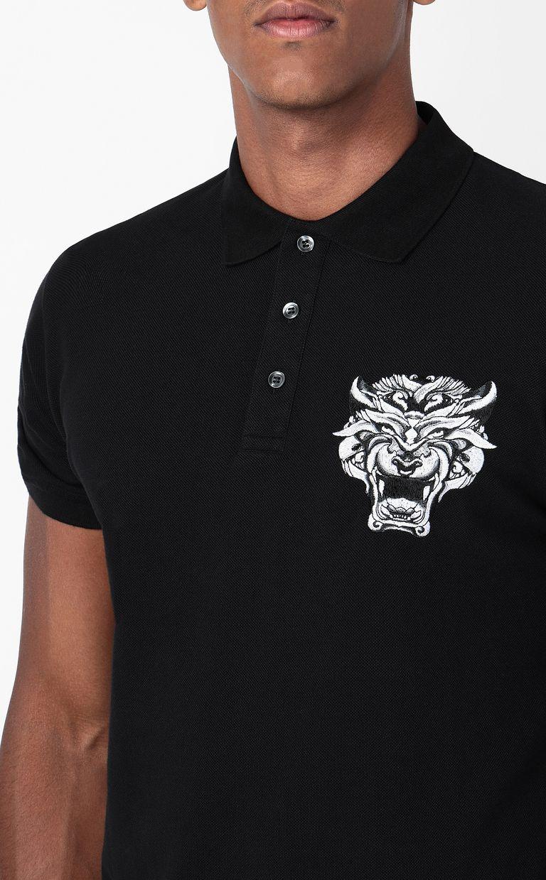 JUST CAVALLI Polo shirt with Tiger-Knocker print Polo shirt Man e