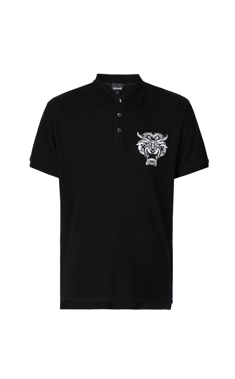 JUST CAVALLI Polo shirt with Tiger-Knocker print Polo shirt Man f