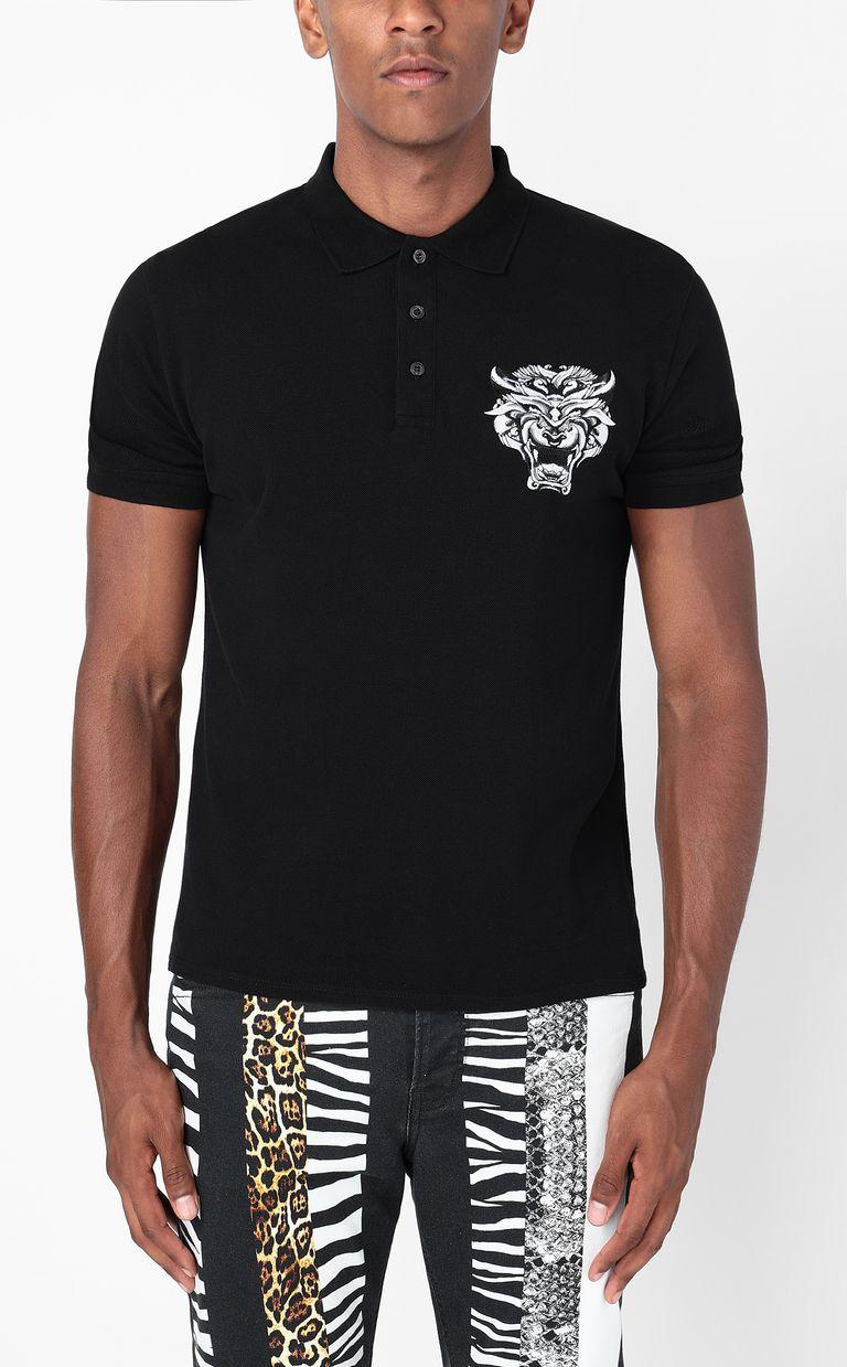 JUST CAVALLI Polo shirt with Tiger-Knocker print Polo shirt Man r