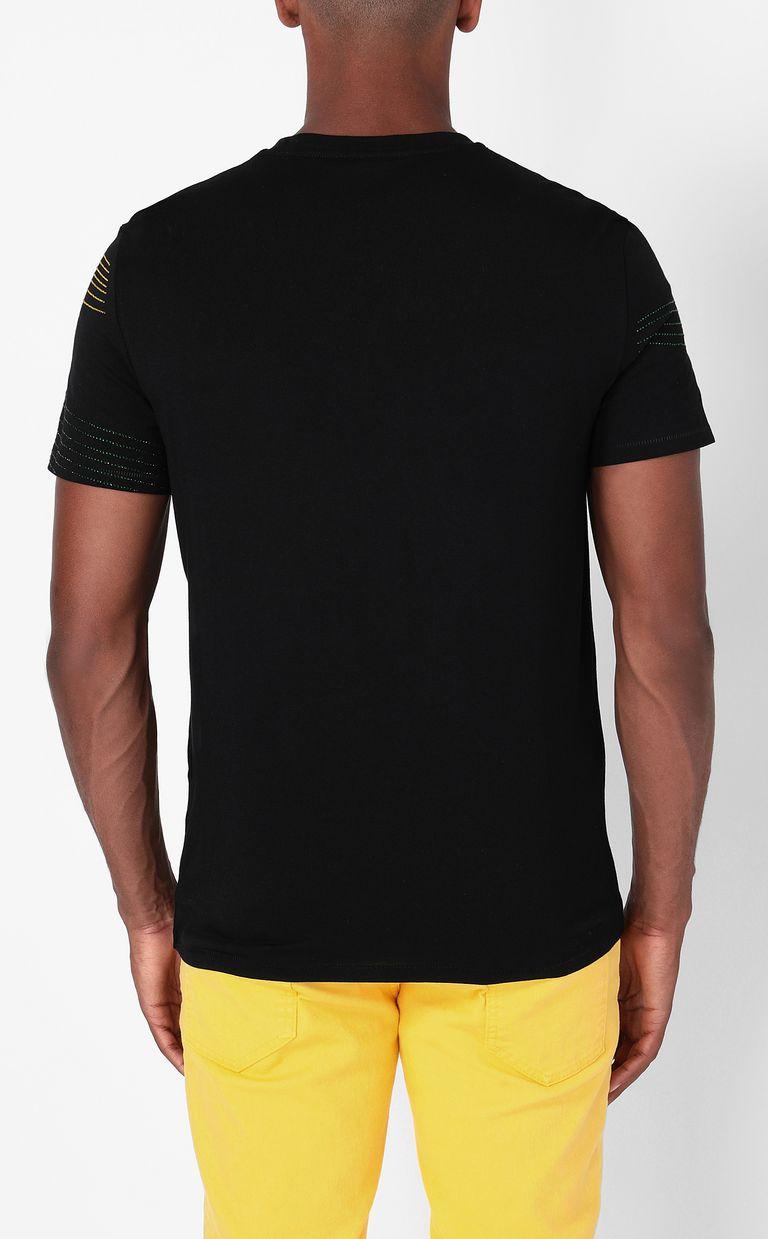 JUST CAVALLI T-shirt with Logo Lights pattern Short sleeve t-shirt Man a