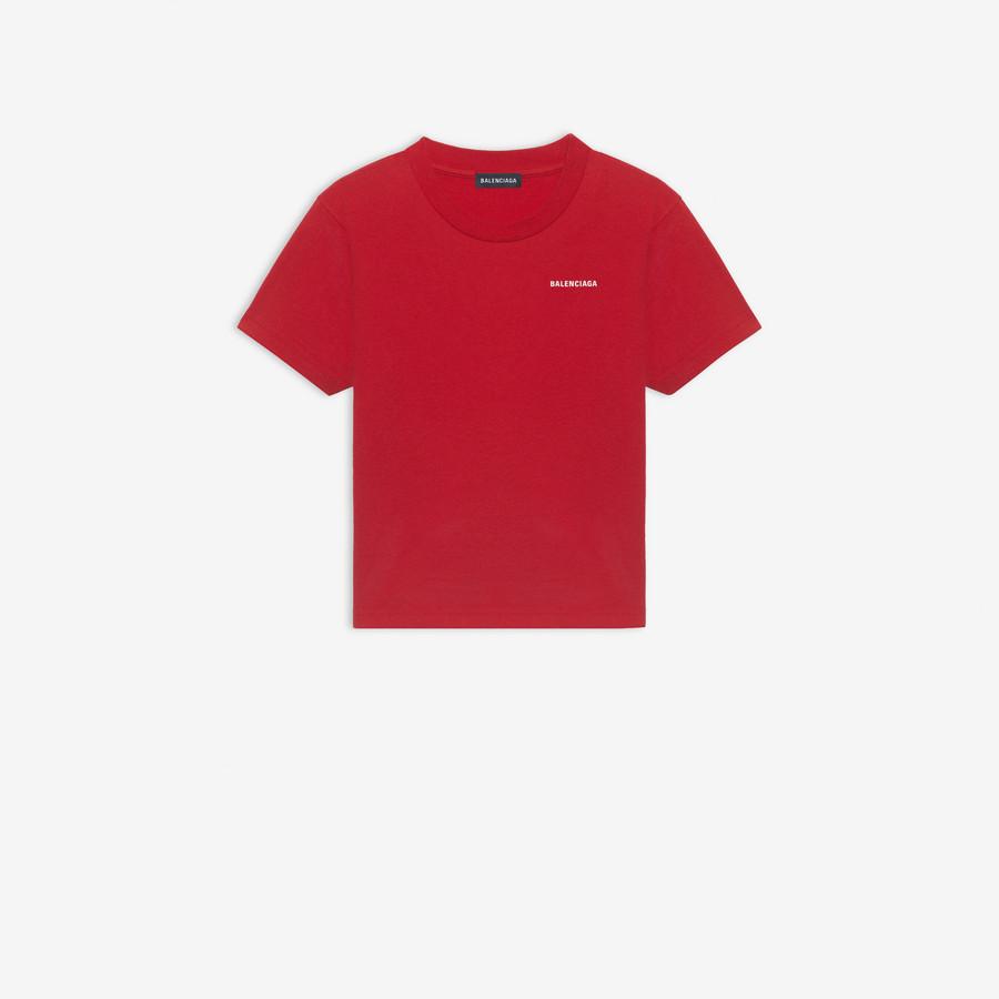 Kids Balenciaga Logo T Shirt Pants Red