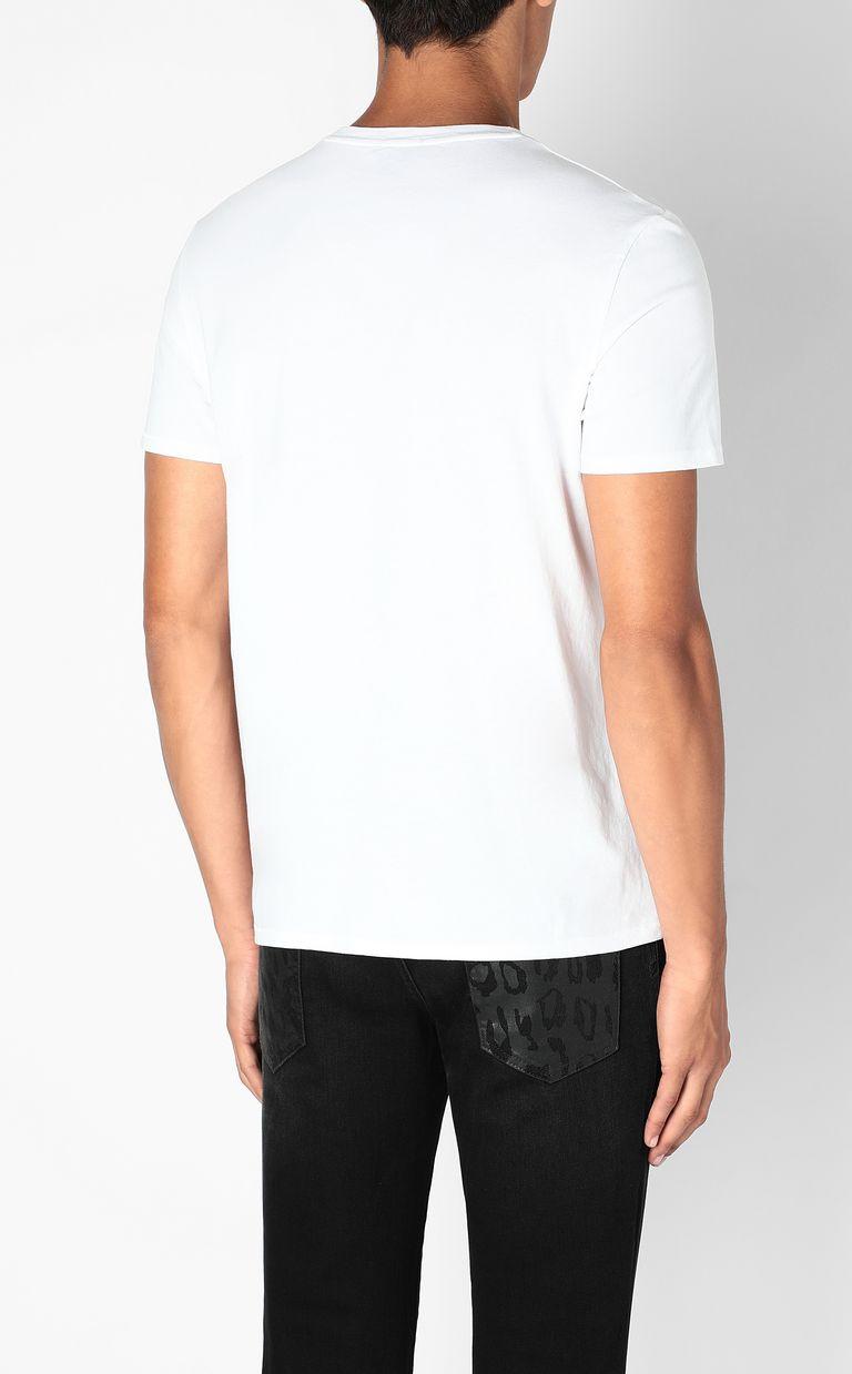 JUST CAVALLI T-shirt with Flower-Skull print Short sleeve t-shirt Man a