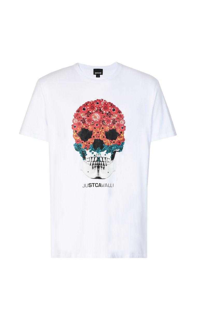 JUST CAVALLI T-shirt with Flower-Skull print Short sleeve t-shirt Man f
