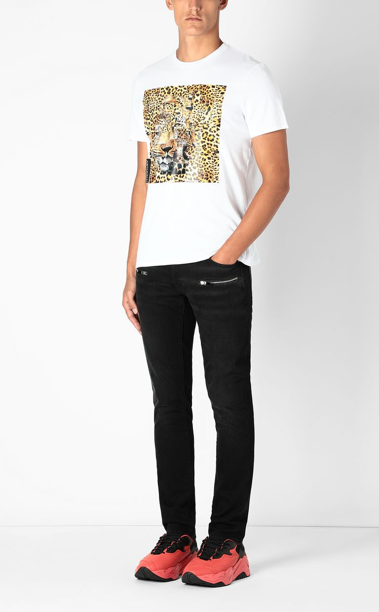 JUST CAVALLI T-shirt with Leo-Patchwork print Short sleeve t-shirt Man d