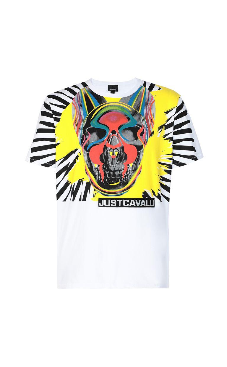 JUST CAVALLI T-shirt with Pop-Skull print Short sleeve t-shirt Man f