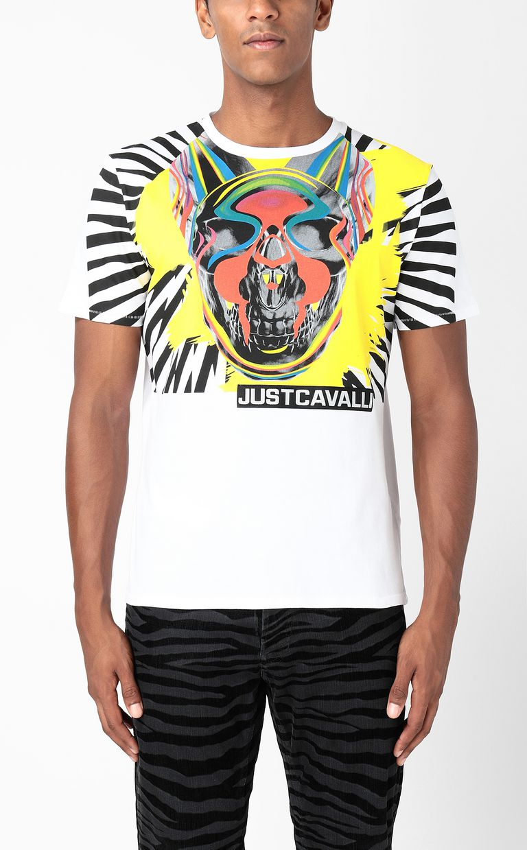 JUST CAVALLI T-shirt with Pop-Skull print Short sleeve t-shirt Man r