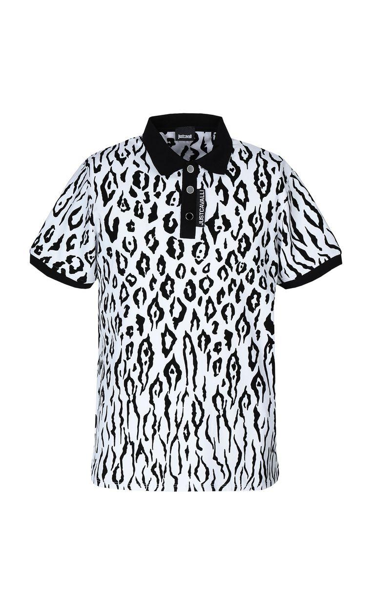 JUST CAVALLI Polo shirt with Tigon print Polo shirt Man f