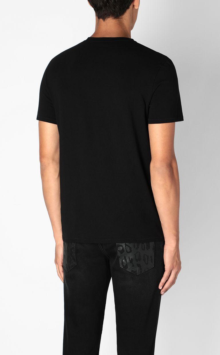 JUST CAVALLI T-shirt with Sequin-Skull print Short sleeve t-shirt Man a