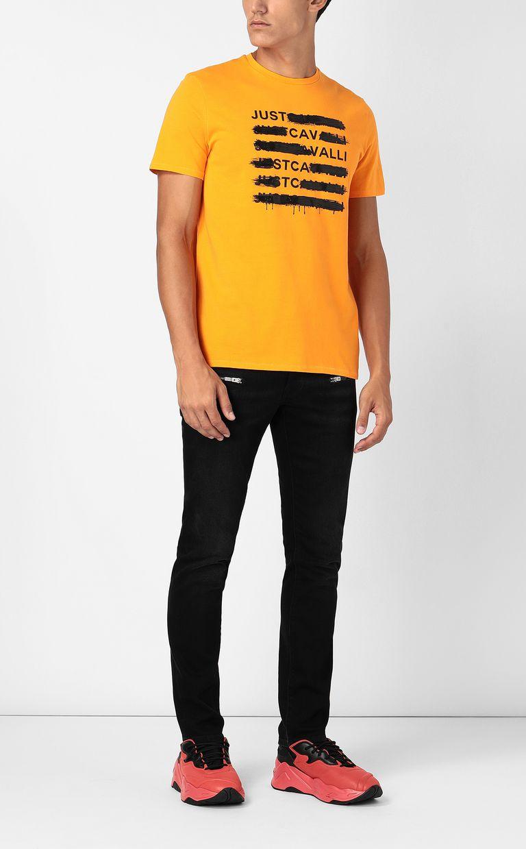 JUST CAVALLI T-shirt with logo print Short sleeve t-shirt Man d