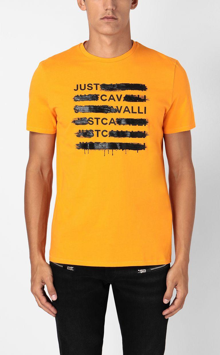 JUST CAVALLI T-shirt with logo print Short sleeve t-shirt Man r