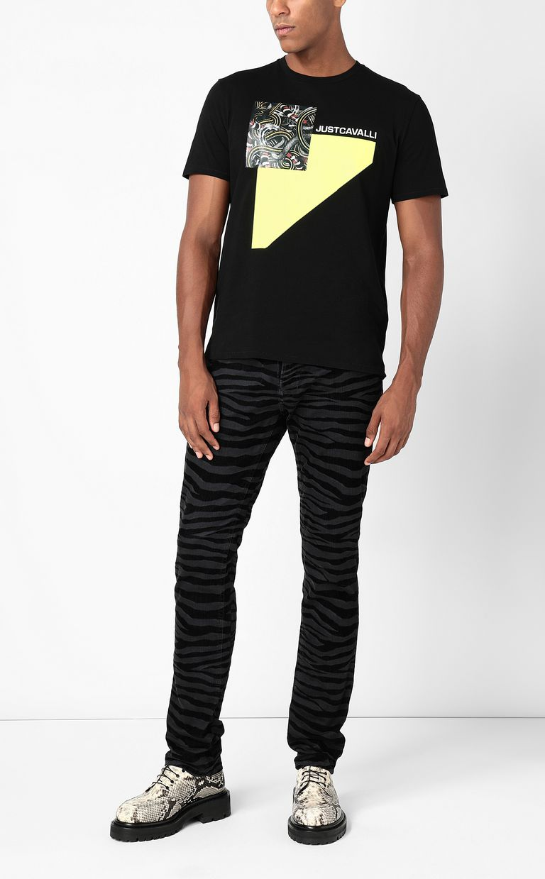 JUST CAVALLI T-shirt with Real-Tangle print Short sleeve t-shirt Man d