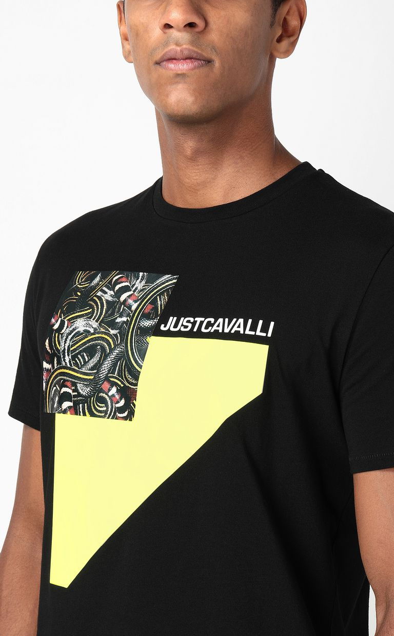 JUST CAVALLI T-shirt with Real-Tangle print Short sleeve t-shirt Man e