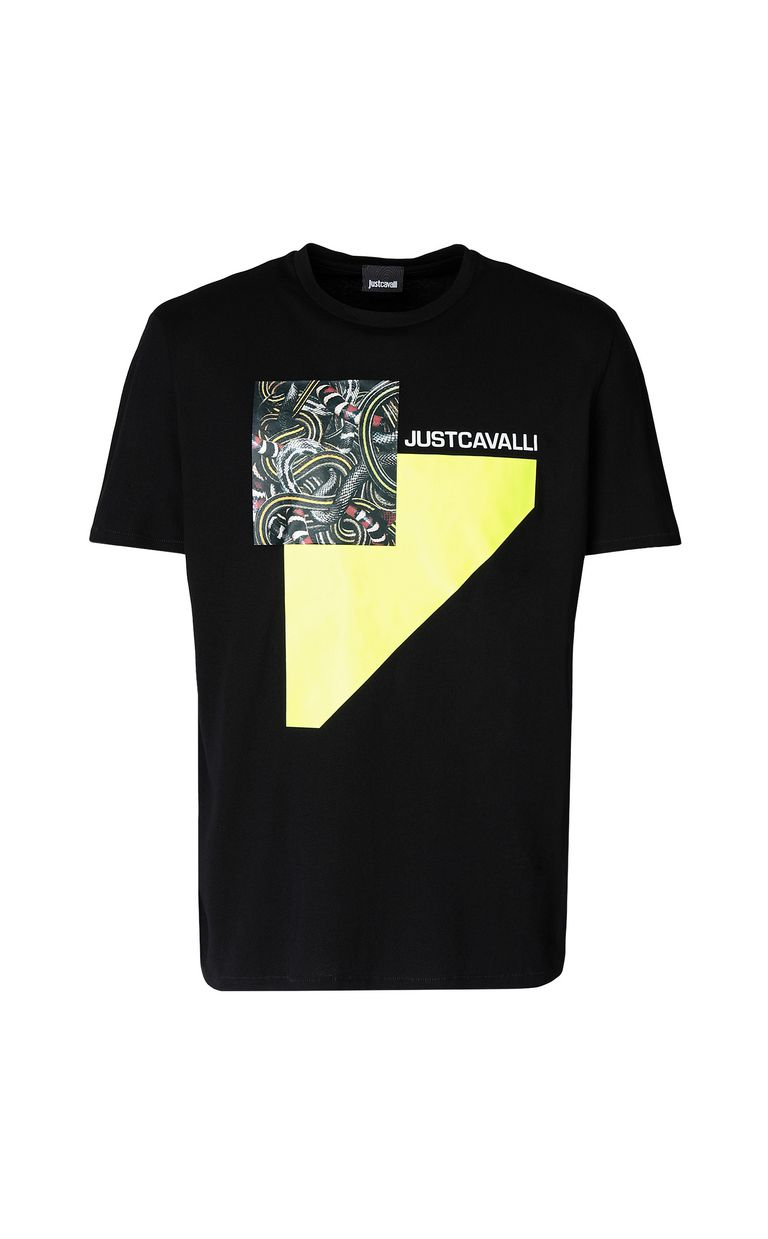 JUST CAVALLI T-shirt with Real-Tangle print Short sleeve t-shirt Man f