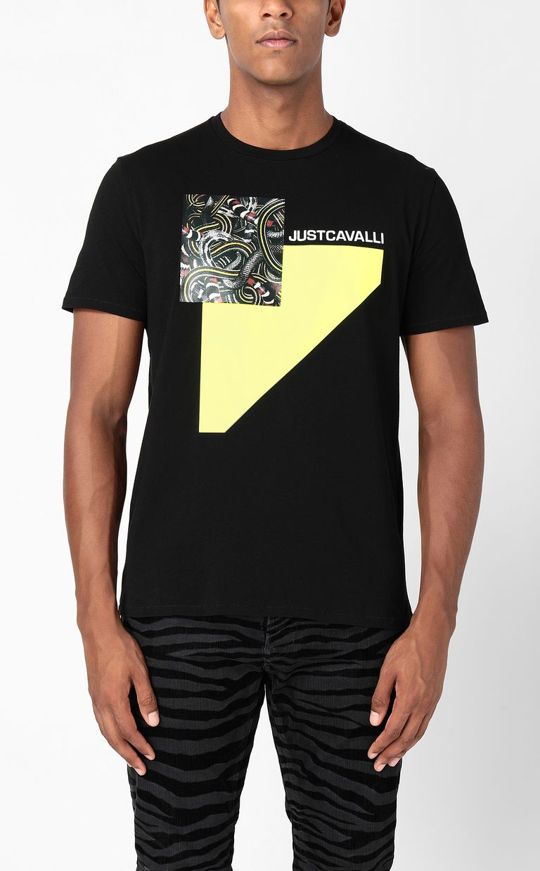 JUST CAVALLI T-shirt with Real-Tangle print Short sleeve t-shirt Man r