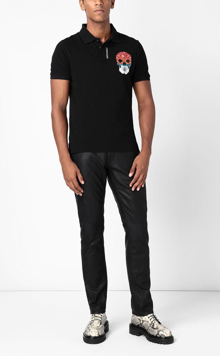 JUST CAVALLI Polo shirt with Flower-Skull print Polo shirt Man d