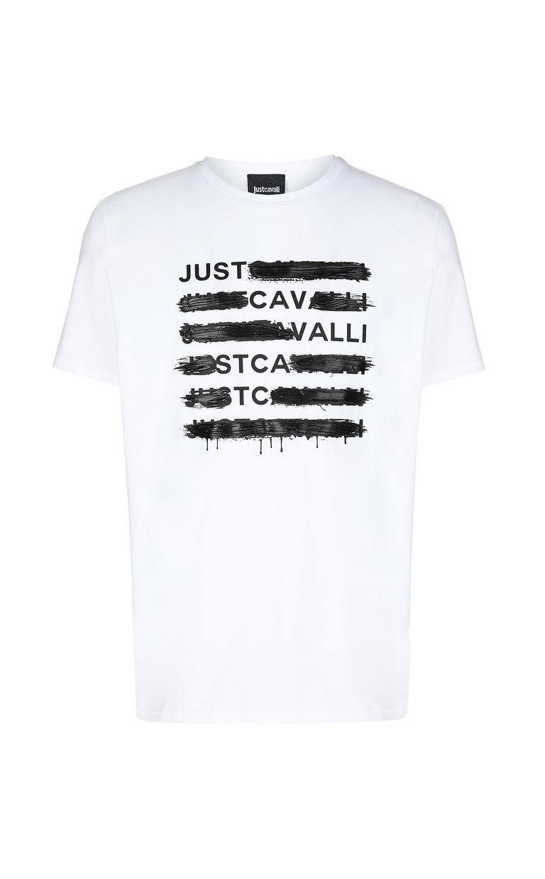 JUST CAVALLI T-shirt with logo print Short sleeve t-shirt Man f