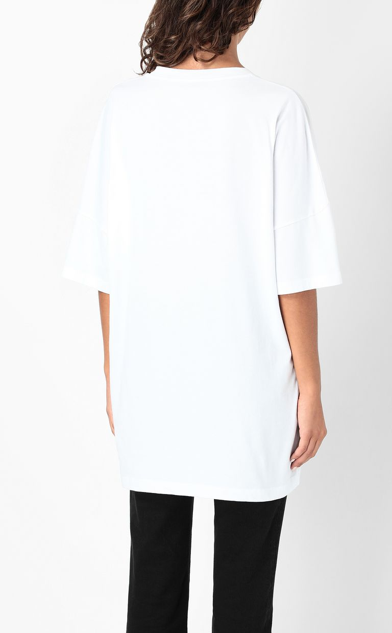JUST CAVALLI T-shirt with print design Short sleeve t-shirt Woman a