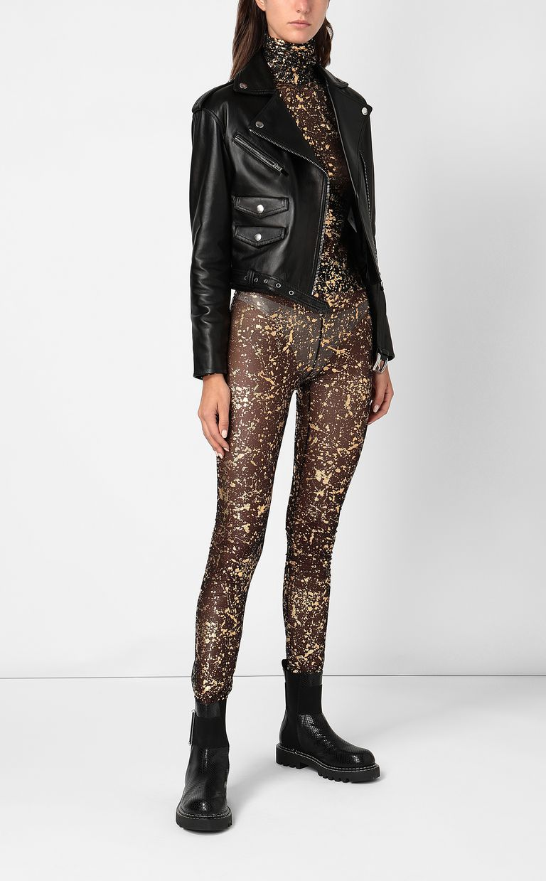 JUST CAVALLI Close-fitting top with gold details Top Woman d