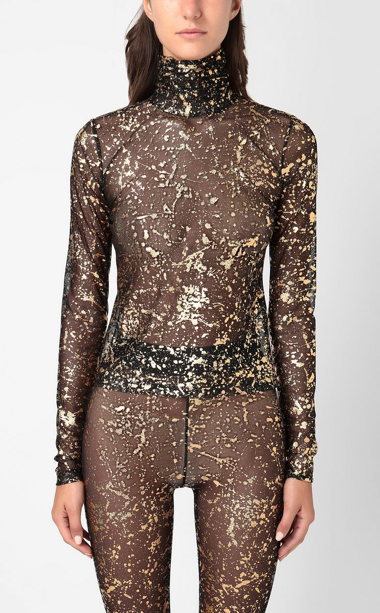 JUST CAVALLI Close-fitting top with gold details Top Woman r