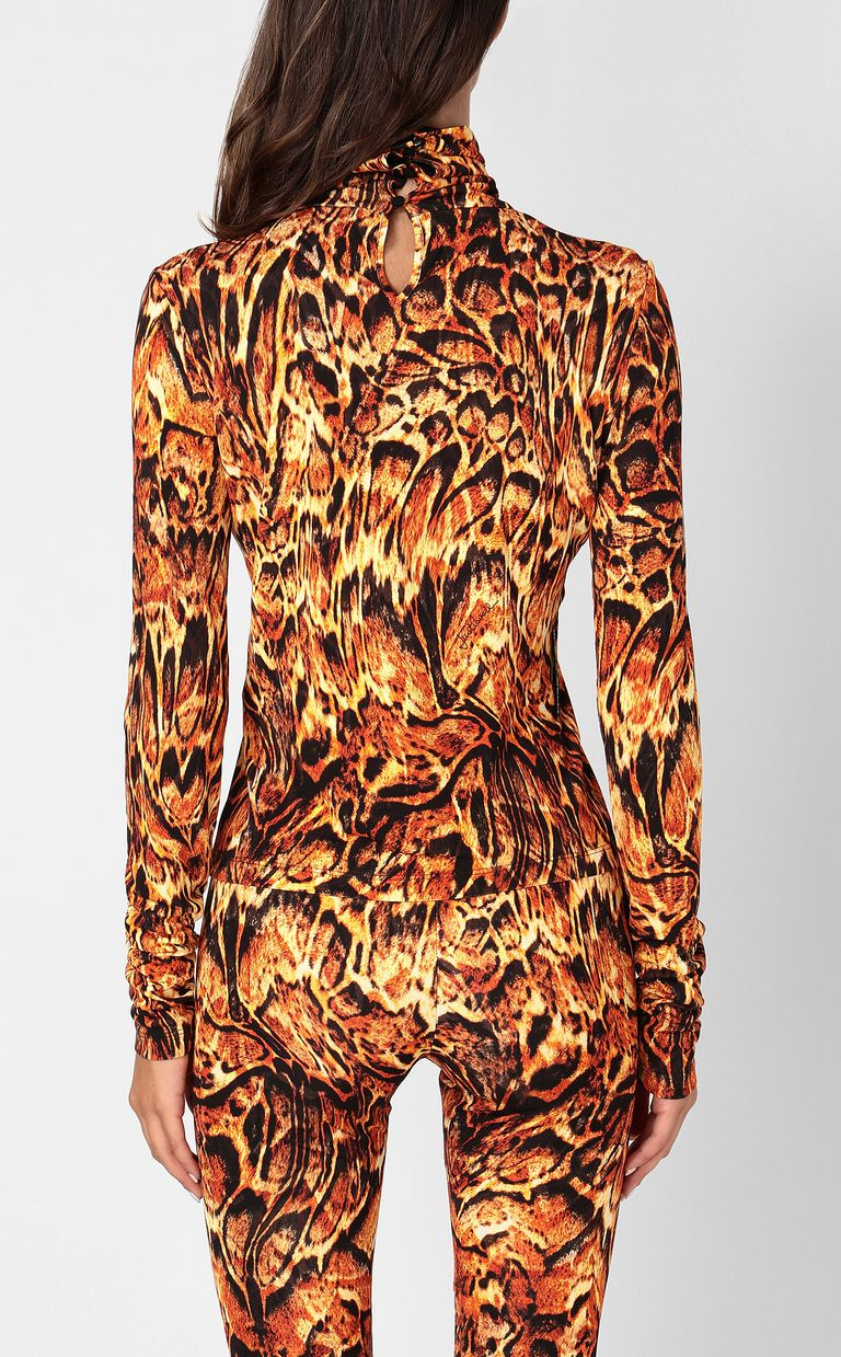 JUST CAVALLI Top with Siberian-Wolf print Top Woman a
