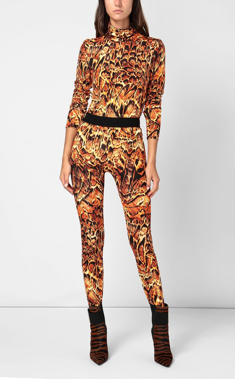 JUST CAVALLI Top with Siberian-Wolf print Top Woman d