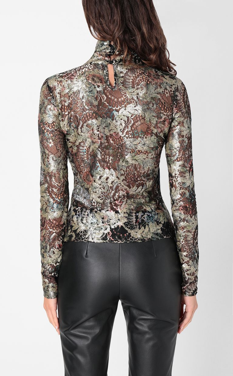 JUST CAVALLI Close-fitting floral top Top Woman a