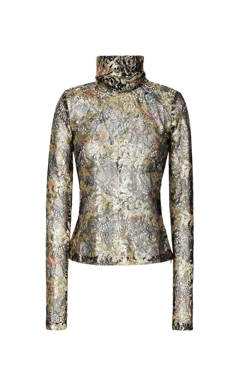 JUST CAVALLI Close-fitting floral top Top Woman f