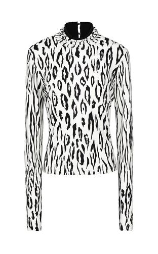 JUST CAVALLI Top Woman Close-fitting zebra-stripe top f