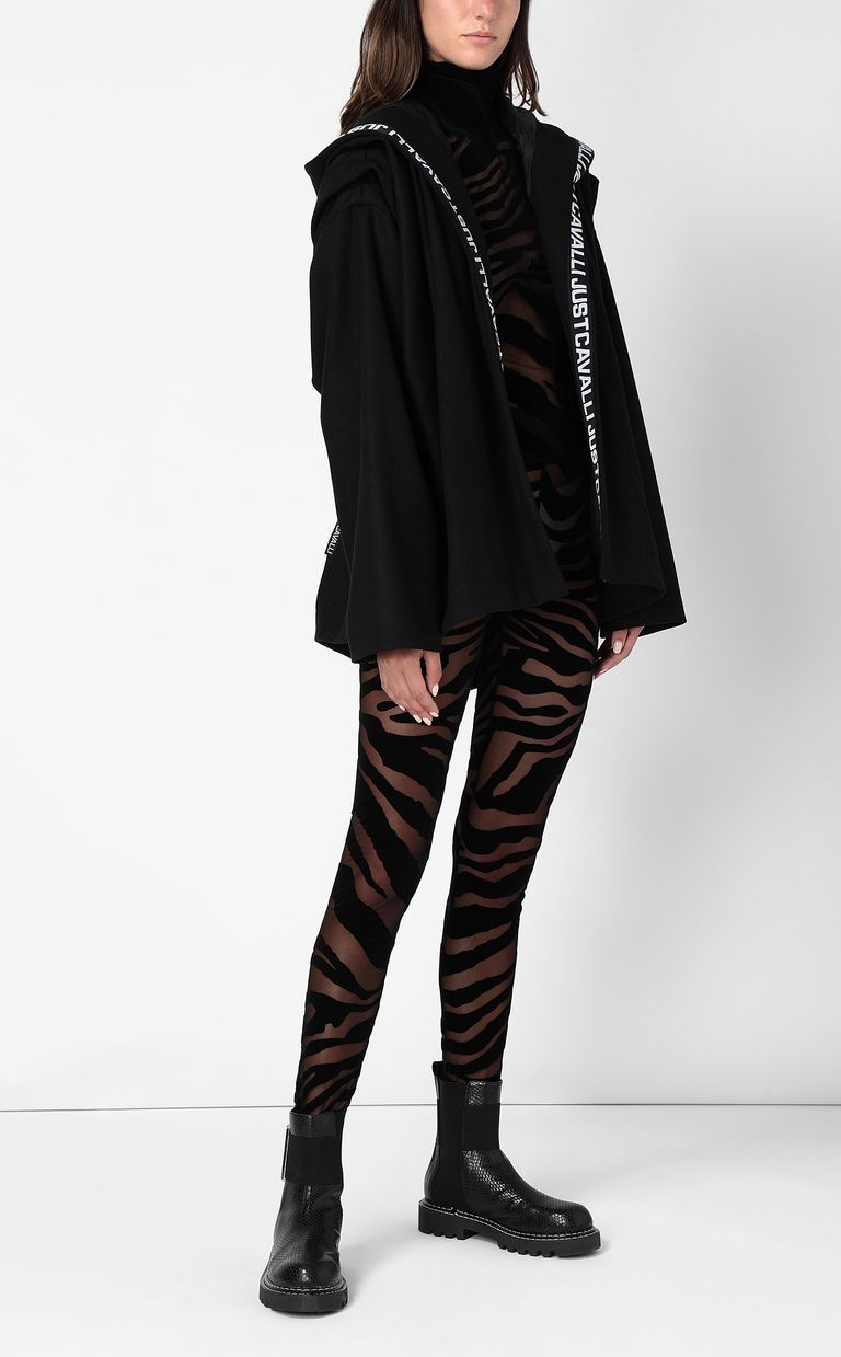 JUST CAVALLI Close-fitting zebra-stripe top Top Woman d