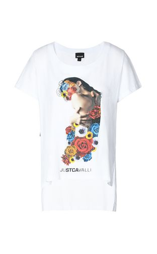 JUST CAVALLI Short sleeve t-shirt Woman T-shirt with print design f