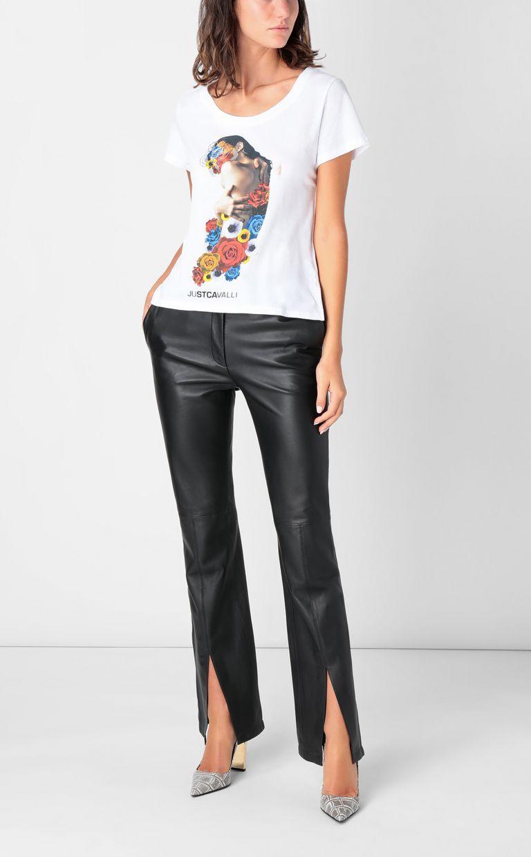JUST CAVALLI T-shirt with print design Short sleeve t-shirt Woman d