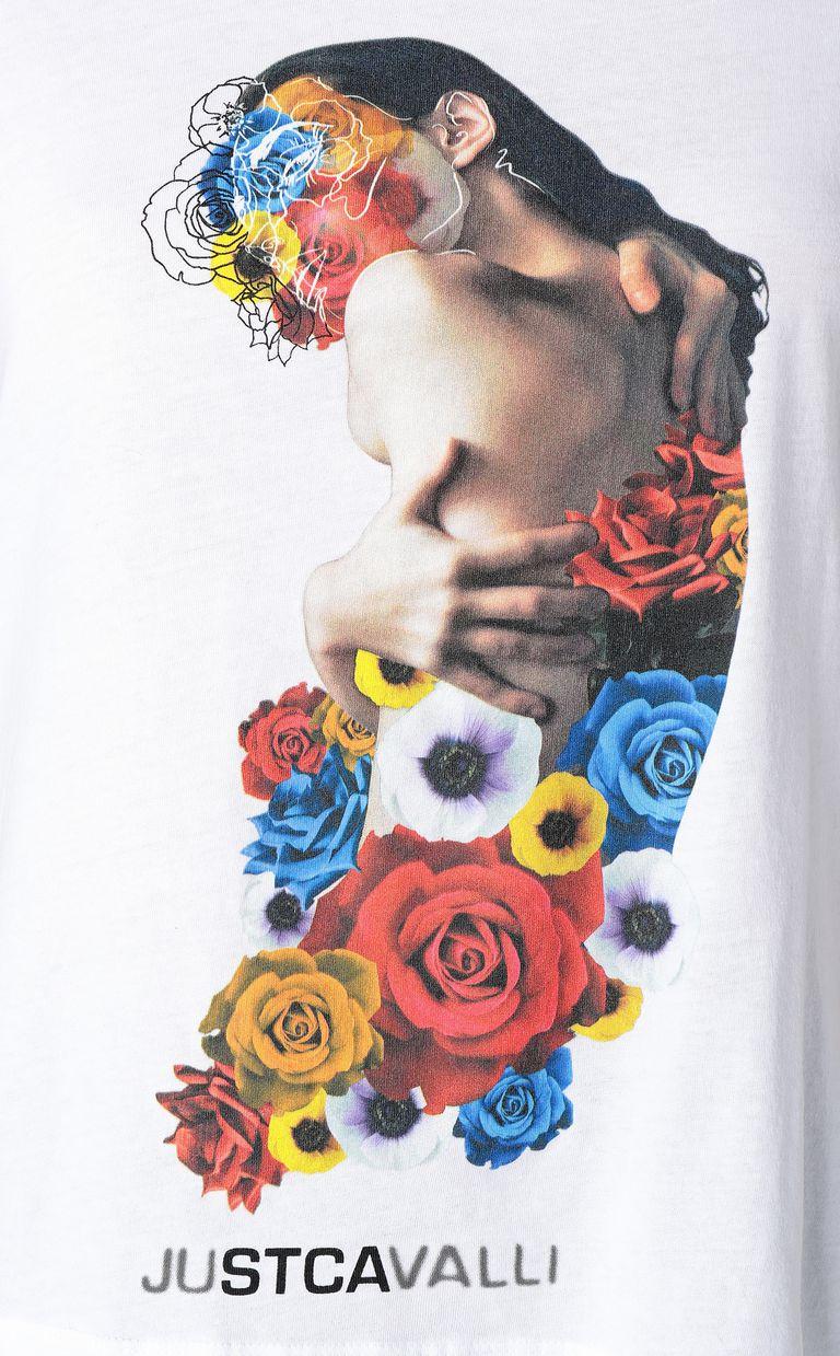 JUST CAVALLI T-shirt with print design Short sleeve t-shirt Woman e