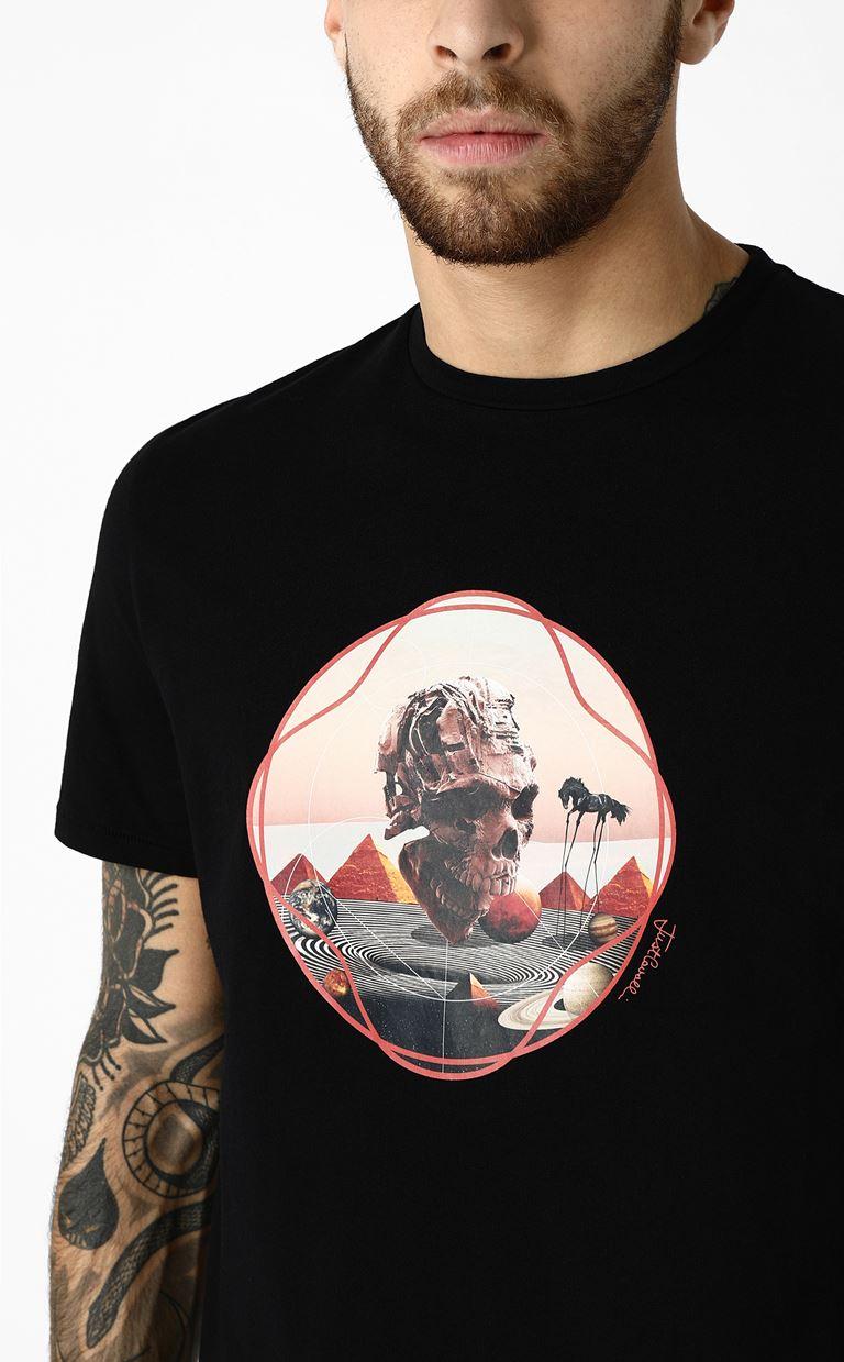 JUST CAVALLI T-shirt with skull print Short sleeve t-shirt Man a