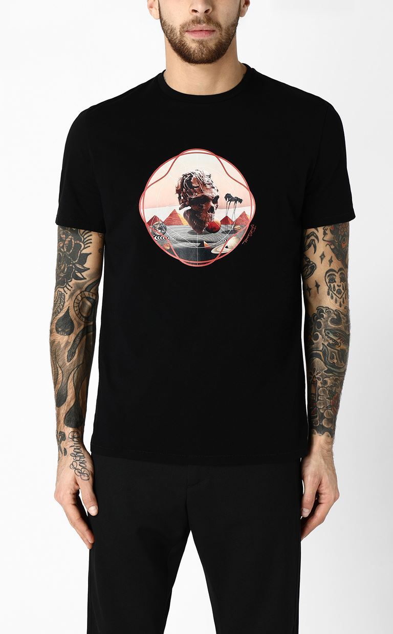 JUST CAVALLI T-shirt with skull print Short sleeve t-shirt Man r